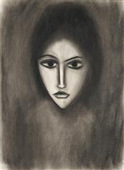 Sale 8881 - Lot 555 - Robert Dickerson (1924 - 2015) - Pensive 76 x 56 cm