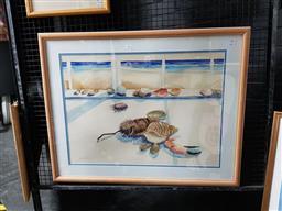 Sale 9127 - Lot 2052 - James White Sylvania (Shore Line collection) watercolour, frame: 75 x 95 cm, signed lower left -