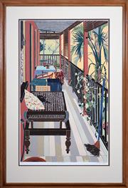 Sale 8427 - Lot 552 - Cressida Campbell (1960 - ) - The Verandah 94 x 58.5cm