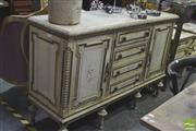Sale 8418 - Lot 1025 - French Style Sideboard w 2 Doors & 4 Central Drawers