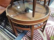 Sale 8435 - Lot 1061 - Circular Nathan Nest of Tables with glass top