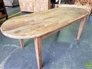 Sale 8480 - Lot 1145 - Recycled Elm Oval Dining Table (200cm)