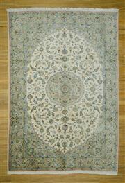 Sale 8601C - Lot 58 - Super Fine Persian Nain Silk inlay 280x197