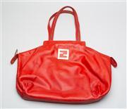 Sale 8740F - Lot 59 - A red Fendi tote bag, H 35 x W 45cm