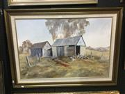 Sale 8720 - Lot 2059 - Margaret Carr - Canowindra Morning oil on board, 60 x 90cm, signed lower right