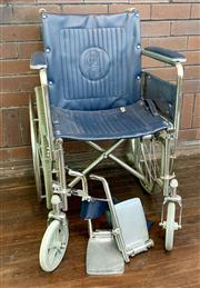 Sale 8804A - Lot 176 - A blue leather wheelchair