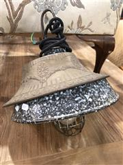 Sale 8822 - Lot 1874 - Vintage Hanging Light With Another Shade