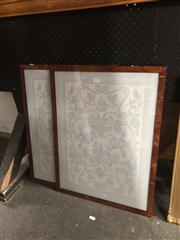 Sale 8824 - Lot 2072 - 2 Framed Floral Decorative Pictures