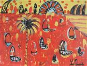 Sale 8880A - Lot 5014 - Yosi Messiah (1964 - ) - Fire Harbour 75 x 100 cm