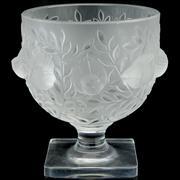Sale 8387 - Lot 65 - Lalique Crystal Elizabeth Glass Pedestal Vase