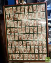 Sale 8544 - Lot 2083 - Framed Vintage Cigarette Cards