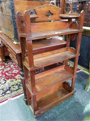 Sale 8570 - Lot 1020 - Oak Open Shelves