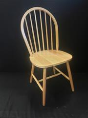 Sale 8959 - Lot 1091 - Set of Six Natural Windsor Chairs (H: 93, W: 44, D: 44cm)