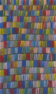 Sale 8316 - Lot 531 - Jeannie Mills Pwerle (1965 - ) - Bush Yam 150 x 90cm
