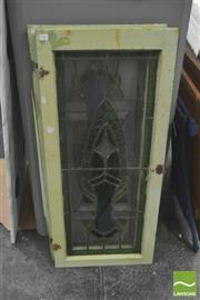 Sale 8406 - Lot 1061 - Pair of Leadlight Windows