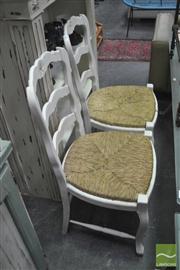 Sale 8440 - Lot 1099 - Set of 4 French Dining Chairs with Rush Seats