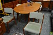 Sale 8528 - Lot 1095 - Clausen Danish Teak Dining Setting incl. Table and Six Chairs