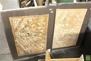 Sale 8468 - Lot 2051 - Pair of Batiks, frame size: 50.5 x 83cm, each
