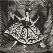 Sale 8592A - Lot 5034 - Adrian Feint (1894 - 1971) - The Dancer 20 x 20cm; 44.5 x 34.5cm (sheet size)