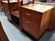 Sale 8705 - Lot 1076 - Pair of Berryman Bedsides with Three Drawers