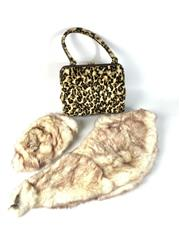 Sale 8747 - Lot 14 - NSW Made Hand Bag Together with Fur Hat and Stole