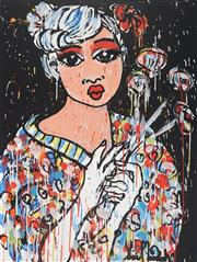 Sale 8880A - Lot 5054 - Yosi Messiah (1964 - ) - Flower Girl 100 x 75 cm