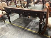 Sale 8896 - Lot 1092 - Timber Leather Top Desk With Three Drawers Below