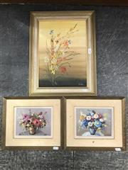 Sale 9028 - Lot 2059 - B Faron, Still Life works (2), 26 x 30cm (frame each), signed lower right together with another work by B Adaire