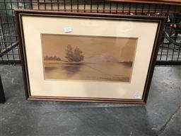 Sale 9111 - Lot 2029 - Thomas Harvey Hawkesbury River watercolour 39 x 55cm, signed and titled
