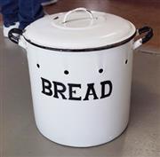 Sale 8320 - Lot 704 - Large enamal bread bin circa 1920s