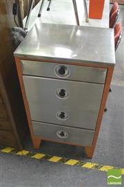 Sale 8406 - Lot 1084 - Pair of Industrial Four Drawer Chests