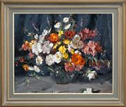 Sale 8415 - Lot 559 - Alan Baker (1914 - 1987) - Still Life - Flowers 60 x 75cm
