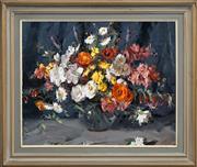 Sale 8411A - Lot 5056 - Alan Baker (1914 - 1987) - Still Life - Flowers 60 x 75cm