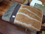 Sale 8469 - Lot 1032 - Pair of African hide cushions