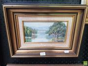 Sale 8573 - Lot 2040 - Artist Unknown - River Scene 26 x 36cm (frame)