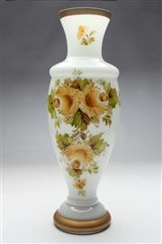 Sale 8667 - Lot 32 - A Murano Hand Painted Milky Glass Vase