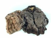 Sale 8747 - Lot 25 - A Brown Fur Coat together with A Berkeley Shoulder Coat