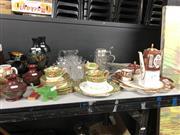 Sale 8819 - Lot 2532 - Salisbury Teawares, Wedgwood Teawares, Crystalwares, Franklin Mint Tankard etc