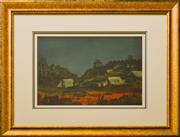Sale 9080J - Lot 80 - Pro Hart - Mine Scene 27x38cm