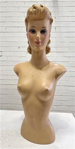 Sale 9134 - Lot 1073 - Vintage fibreglass shop mannequin (h:79cm)