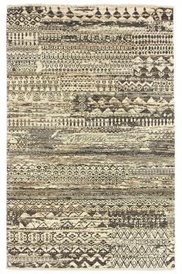 Sale 9141C - Lot 13 - India Sahara Design Slate Rug, 100x120cm, Handspun Wool