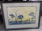 Sale 8413T - Lot 2094 - Barne Littlefield (XX - ) - View of Country Cottage Farm 35 x 54cm
