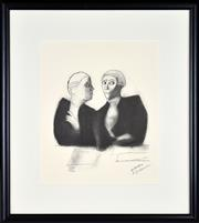 Sale 8347A - Lot 50 - Robert Dickerson (1924 - 2015) - Untitled (Legal Series) 32.5 x 27cm (sheet size)