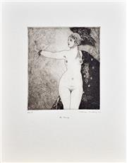 Sale 8349A - Lot 53 - Norman Lindsay (1879 - 1969) - The Ring 30 x 25cm