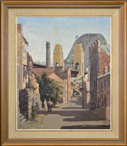 Sale 8401 - Lot 507 - Frank H. Spears (c1920 - 1987) - Harrington Street 59 x 49cm
