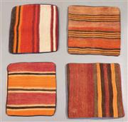 Sale 8438K - Lot 96 - Six Tribal Kilim Cushion Covers | 40x40cm, Pure Wool, Cotton Backing, Unique Afghan kilim cushion, Made from vintage kilims, many ov...