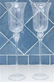 Sale 8550H - Lot 38 - A pair of oversized candle holders or toasting glasses, H 44cm