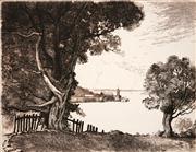 Sale 8592A - Lot 5036 - Adrian Feint (1894 - 1971) - Milsons Point 22.5 x 17.5cm; 44.5 x 34.5cm (sheet size)