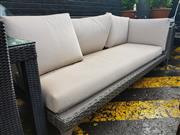 Sale 8745 - Lot 1056 - Open Ended Poly Wicker Outdoor Lounge