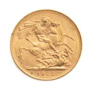 Sale 8855H - Lot 71 - 1922 gold sovereign weight approx 7.95g, P above 1922
